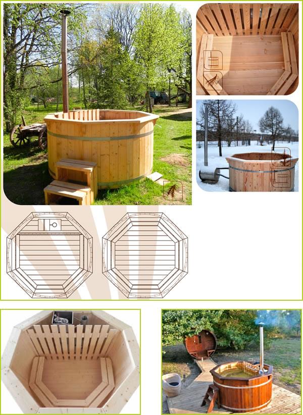 bain cuve bois, spa en bois