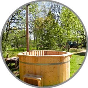 bain cuve bois, baignoire finlandaise bois, spa finlandais, spa bois pas cher