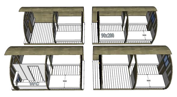 Configurations Tonneau chambre