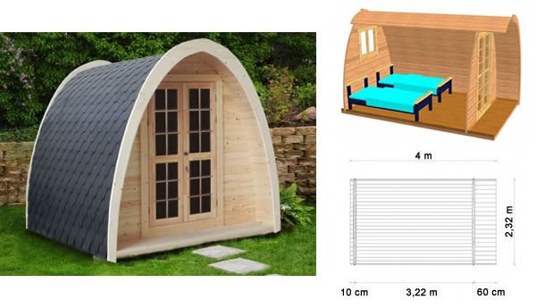 Camping Pod Extension Originale Chambre Suppl Mentaire