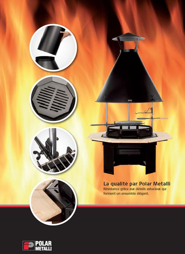 Grill polar metalli pour kota grill finlandais