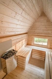 extension sauna intérieur