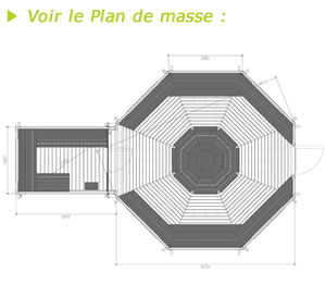 Plan de masse Kota Grill avec extension sauna