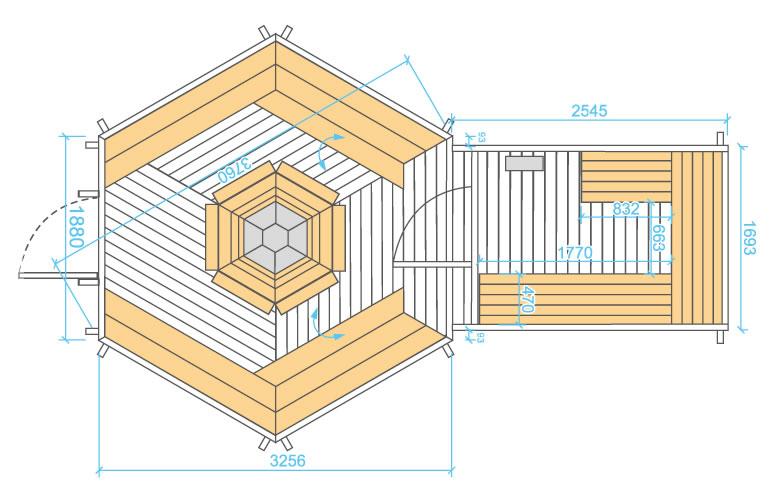 Kota grill 9 2 m scandinave pas cher et de qualit vosges jura alsace d - Plan sauna finlandais ...