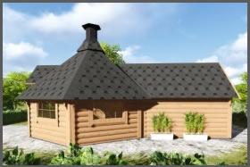 Kota Grill avec extension sauna