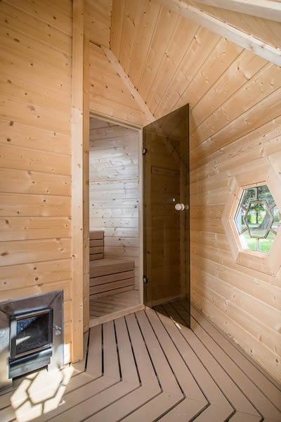 Kota Sauna avec vestiaires