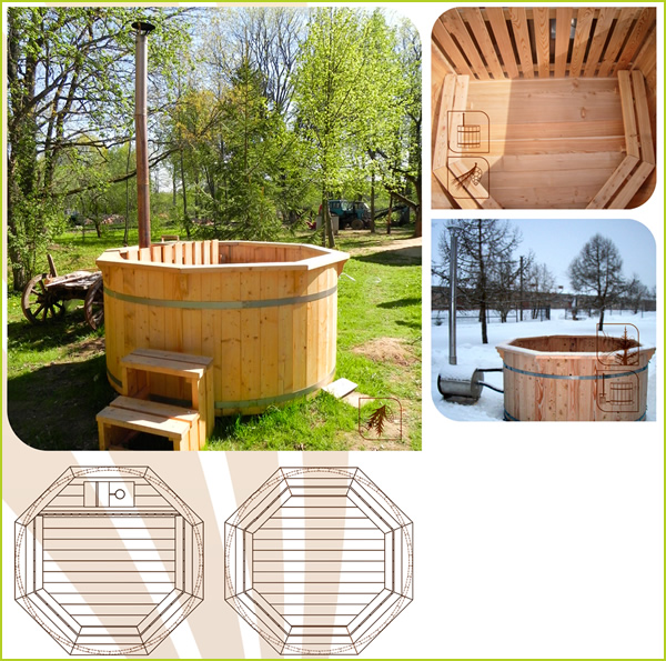 spa en bois pas cher sauna maison pas cher 2 bain cuve bois spa bois qualit233 scandinave pas. Black Bedroom Furniture Sets. Home Design Ideas